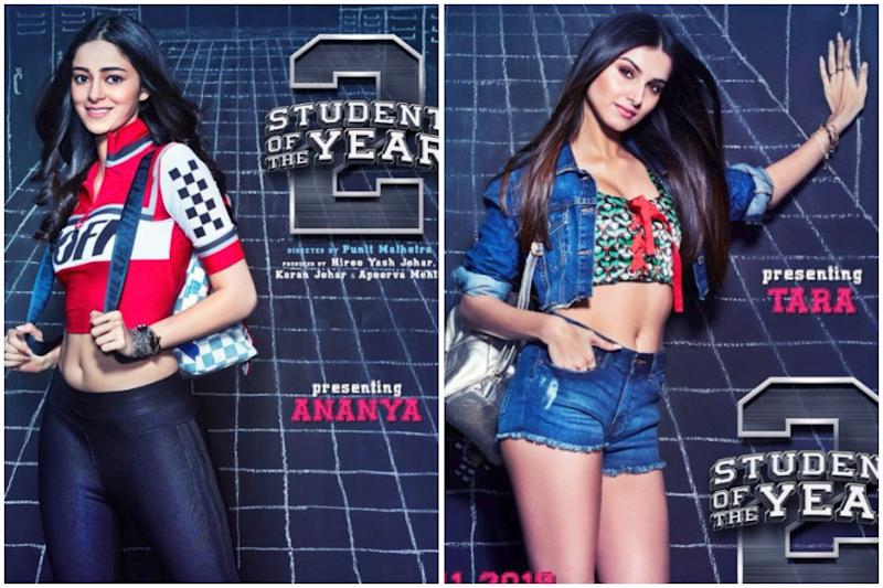 Ananya Panday, Tara Sutaria Can't Take Their Eyes Off Student Of The Year 2 Co-star Tiger Shroff, See Photo