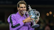 """<p><span>Rafael Nadal's 20-year career began in 2001 and he's still one of the highest-paid celebrities across all trades. He earned $40 million in 2020, according to Forbes, which estimates that his appearance fees are in the seven figures. The Spaniard has won more than $121 million in prize money since his debut two decades ago and has established himself as the greatest clay-court competitor in modern tennis. He passed his 1,000th career win in 2020. His GOAT rivalry with Roger Federer — and now Novak Djokovic — is destined to go down with McEnroe-Borg and Evert-Navratilova as one of the best in history, according to Forbes.</span></p> <p><a href=""""https://www.gobankingrates.com/net-worth/sports/what-is-rafael-nadal-net-worth/?utm_campaign=1130237&utm_source=yahoo.com&utm_content=37&utm_medium=rss"""" rel=""""nofollow noopener"""" target=""""_blank"""" data-ylk=""""slk:Find out what his total net worth is."""" class=""""link rapid-noclick-resp"""">Find out what his total net worth is.</a></p> <div class=""""listicle--slide--content""""> <p><strong><em>Money:</em> </strong><em><strong><a href=""""https://www.gobankingrates.com/net-worth/sports/5-best-worst-nfl-players-comes-money/?utm_campaign=1130237&utm_source=yahoo.com&utm_content=38&utm_medium=rss"""" rel=""""nofollow noopener"""" target=""""_blank"""" data-ylk=""""slk:The 5 Best NFL Players When It Comes to Money"""" class=""""link rapid-noclick-resp"""">The 5 Best NFL Players When It Comes to Money</a></strong></em></p> </div> <p><small>Image Credits: lev radin / Shutterstock.com</small></p>"""