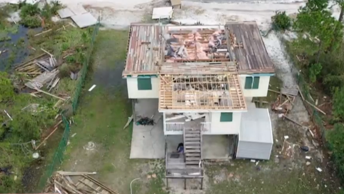 An aerial image of Hurricane Sally's destruction.  / Credit: CBS News