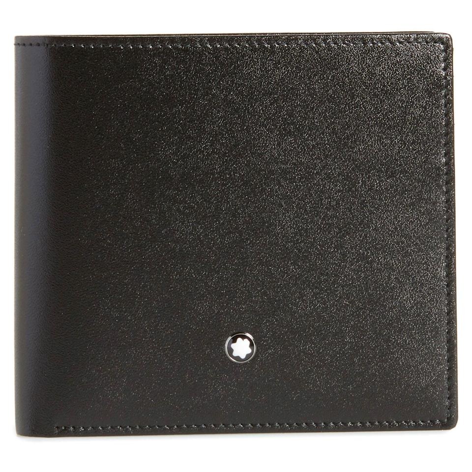 """<p><strong>Montblanc</strong></p><p>nordstrom.com</p><p><strong>$365.00</strong></p><p><a href=""""https://go.redirectingat.com?id=74968X1596630&url=https%3A%2F%2Fwww.nordstrom.com%2Fs%2Fmontblanc-meisterstuck-leather-wallet%2F4843690&sref=https%3A%2F%2Fwww.esquire.com%2Fstyle%2Fmens-accessories%2Fg35924710%2Fmens-luxury-wallets%2F"""" rel=""""nofollow noopener"""" target=""""_blank"""" data-ylk=""""slk:Shop Now"""" class=""""link rapid-noclick-resp"""">Shop Now</a></p><p>That little star emblem? When you know, you know.</p>"""