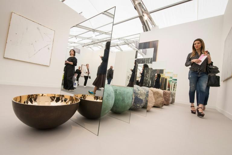 Frieze Los Angeles, a major art fair, has opened its doors to A-listers and collectors (AFP Photo/Mark RALSTON)