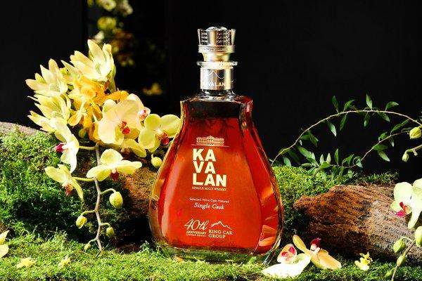 King Car's Launch Event for its 40th Anniversary Whisky uses fresh orchids from the award-winning King Car Orchid Farm to emphasize Kavalan's signature floral notes and the elegance of this milestone single malt