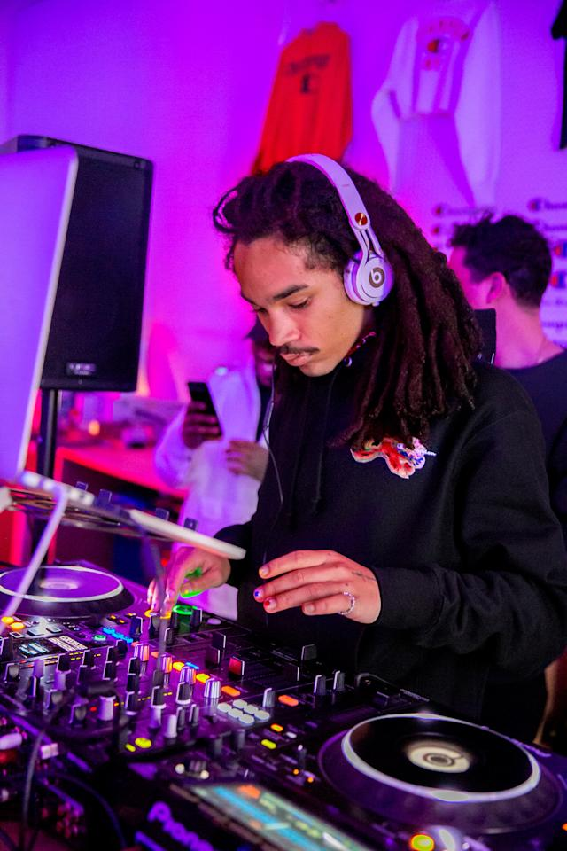 Luka Sabbat celebrates Champion Athleticwear's 100th anniversary on November 13 in New York City.