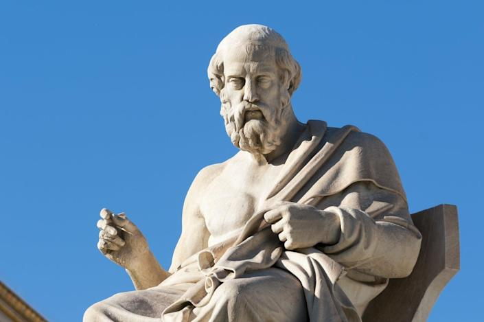"""<span class=""""caption"""">At the dawn of democracy, Plato foresaw an unfortunate end.</span> <span class=""""attribution""""><a class=""""link rapid-noclick-resp"""" href=""""https://www.shutterstock.com/image-photo/classic-statues-plato-sitting-664286932"""" rel=""""nofollow noopener"""" target=""""_blank"""" data-ylk=""""slk:vangelis aragiannis/Shutterstock.com"""">vangelis aragiannis/Shutterstock.com</a></span>"""