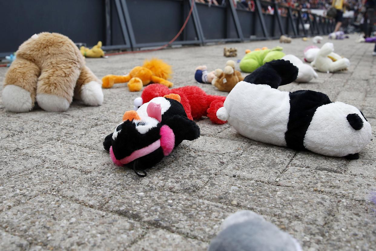 Thousands of the soft toys were collected up for the hospital