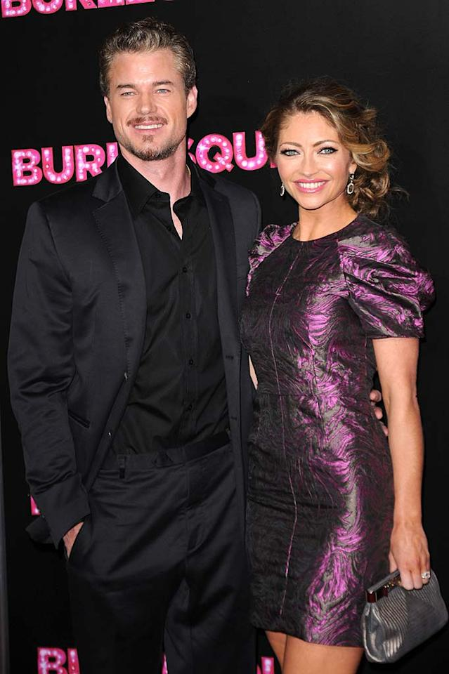 """Grey's Anatomy's"" Dr. McSteamy, aka Eric Dane, and his wife Rebecca Gayheart delivered a healthy baby girl, Billie Beatrice, on March 3 in Los Angeles. Jason Merritt/<a href=""http://www.gettyimages.com/"" target=""new"">GettyImages.com</a> - November 15, 2010"