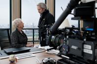 """Judi Dench and Sam Mendes on the set of Columbia Pictures' """"Skyfall"""" - 2012"""