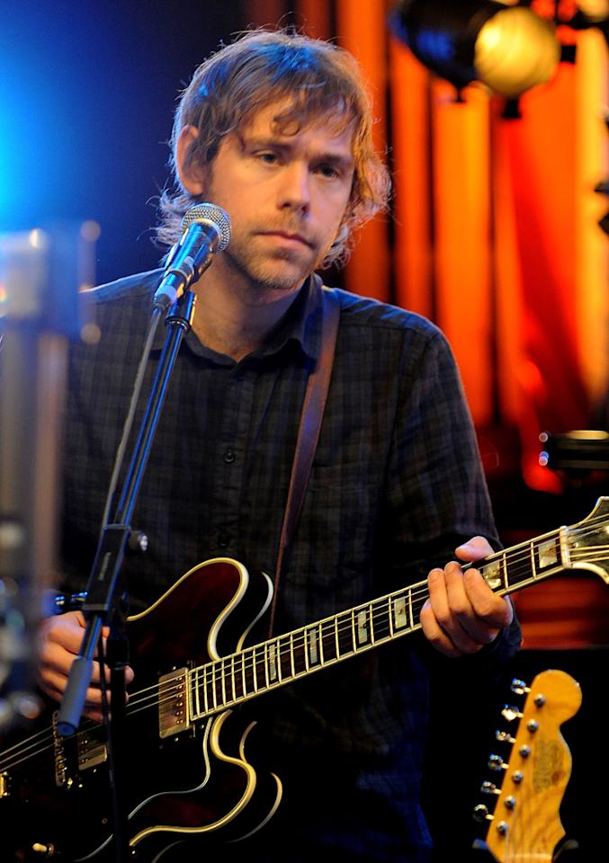 """Aaron Dessner of The National performs during the Yahoo! Music Presents """"The Bridge Session"""" sponsored by Headcount at TRI Studios on March 24, 2012 in San Rafael, California."""