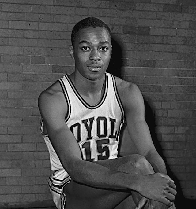 FILE In this Feb. 20, 1963, file photo, Loyola's Jerry Harkness poses. Loyola-Chicagos run to the Sweet 16 is resurfacing memories of 1963, when it won the NCAA Tournament on an overtime tip-in. But even more culturally significant was the Ramblers 1963 regional semifinal against Mississippi State, a game that was in danger of not being played because of Mississippis informal law barring its schools from playing against racially integrated teams. (AP Photo/File)