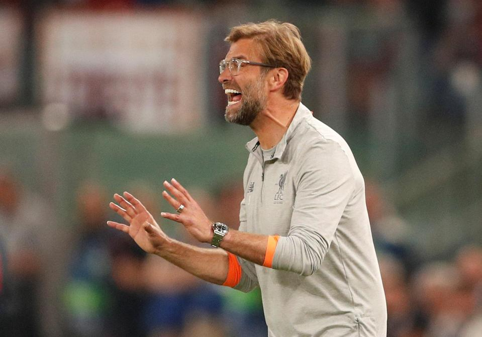 <p>Soccer Football – Champions League Semi Final Second Leg – AS Roma v Liverpool – Stadio Olimpico, Rome, Italy – May 2, 2018 Liverpool manager Juergen Klopp Action Images via Reuters/John Sibley </p>