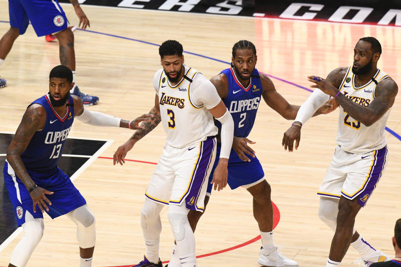 Even a shorthanded matchup between the Clippers and Lakers will be a star-studded affair. (Brian Rothmuller/Icon Sportswire via Getty Images)