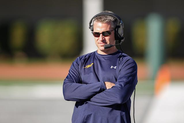 Toledo coach Jason Candle looks on during a game against Eastern Michigan. (Scott W. Grau/Getty Images)