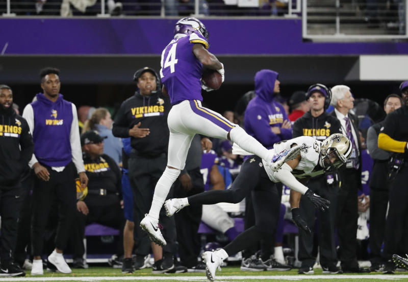 Marcus Williams' missed tackle on Stefon Diggs will live forever in NFL playoff lore. (AP)
