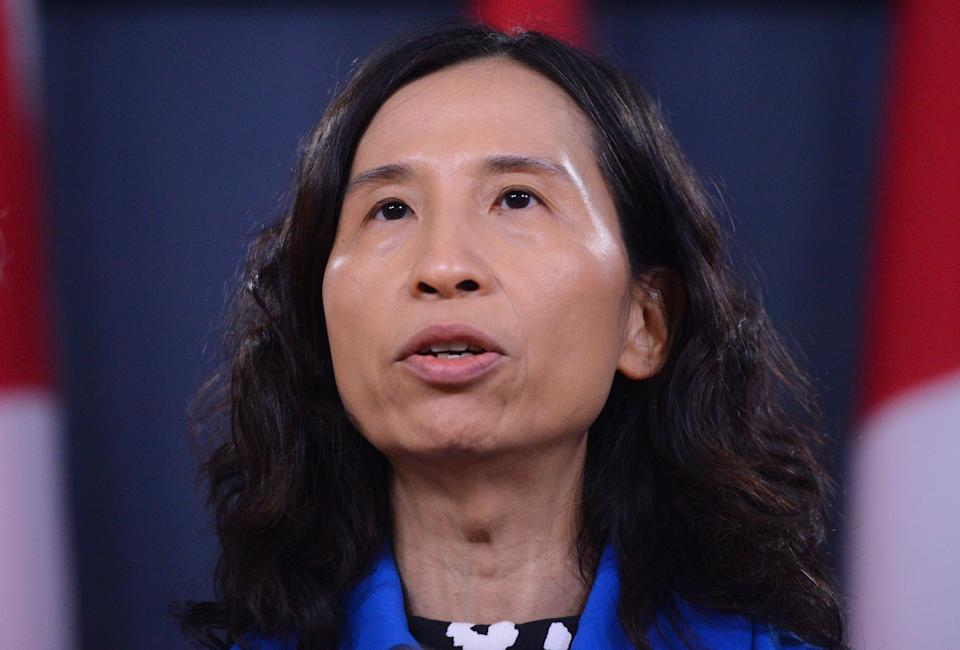 Canada's chief public health officer Dr. Theresa Tam attends a news conference updating the COVID-19 situation at the National Press Theatre in Ottawa on March 13, 2020.  (Photo: Sean Kilpatrick/CP)