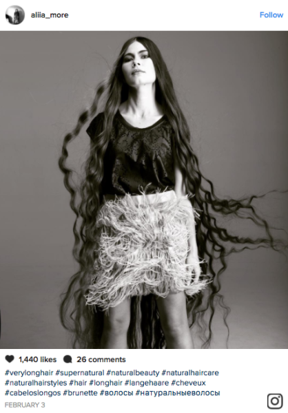 Aliia Nasyrova, a native of Latvia, has grown her hair for over 20 years and is now known as a real-life Rapunzel.