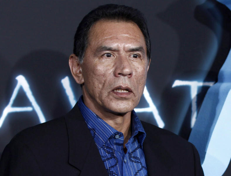 "FILE - This Dec. 16, 2009 file photo shows Wes Studi at the premiere of ""Avatar"" in Los Angeles. Studi, a well-known for his roles in ""Dances with Wolves"" and ""The Last of the Mohicans,"" was arrested early Friday, July 26, 2013, for aggravated drunken driving in New Mexico, Santa Fe police confirmed. According to a criminal complained, Studi, 66, was arrested around 1 a.m. while at a stop sign. The actor was in a 2005 black Volvo with two front tires blown out, police said. (AP Photo/Matt Sayles,File)"