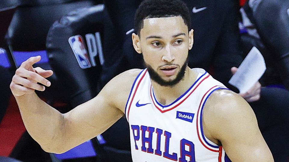 Ben Simmons is once again under fire after a rough performance in Philadelphia's game seven loss to the Atlanta Hawks in the NBA Playoffs. (Photo by Tim Nwachukwu/Getty Images)