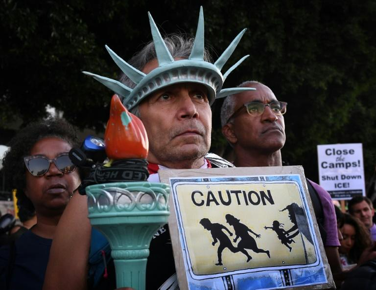 A July 2019 protest in Los Angeles against the Trump administration's immigration policies