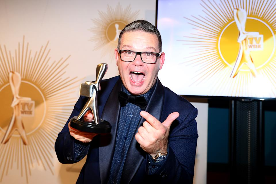 GOLD COAST, AUSTRALIA - JUNE 30: Gary Mehigan poses with the Logie Award for Most Popular Reality Show during the 61st Annual TV WEEK Logie Awards at The Star Gold Coast on June 30, 2019 on the Gold Coast, Australia. (Photo by Chris Hyde/Getty Images)