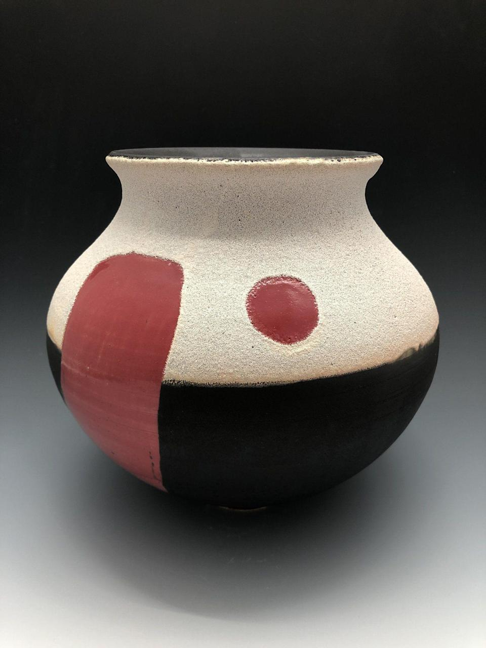 "<p>ceramicmeltdown.com</p><p><strong>$350.00</strong></p><p><a href=""https://ceramicmeltdown.com/collections/red-sun-vases/products/red-sun-vase-6"" rel=""nofollow noopener"" target=""_blank"" data-ylk=""slk:Shop Now"" class=""link rapid-noclick-resp"">Shop Now</a></p><p>Former tech professional, Kyle Lee is a ceramicist who uses bright colors on traditional forms. </p>"