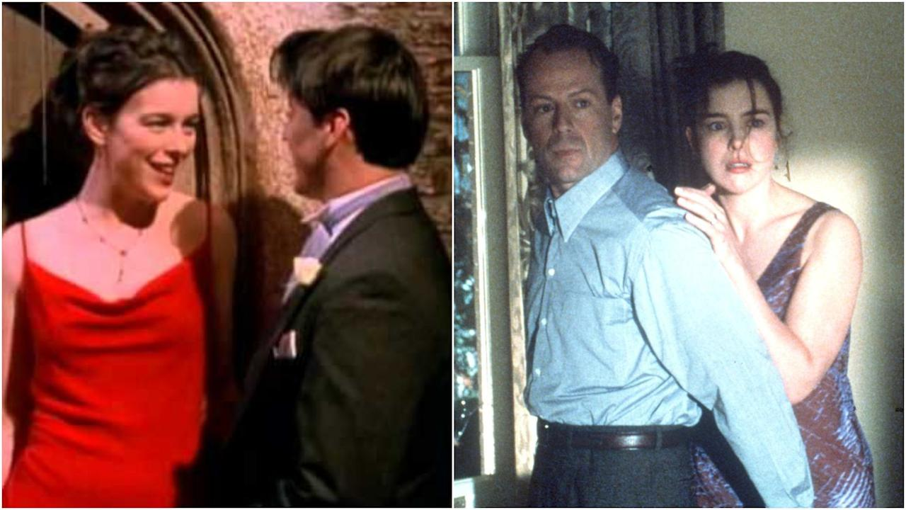 "<p>Williams is probably best known for starring in <em>The Sixth Sense</em> with ""neat guy"" Bruce Willis, but a year earlier she was Emily's bridesmaid, seducing Joey at Ross's wedding.</p>"
