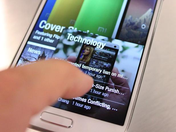 samsung galaxy s4 flipboard app air view