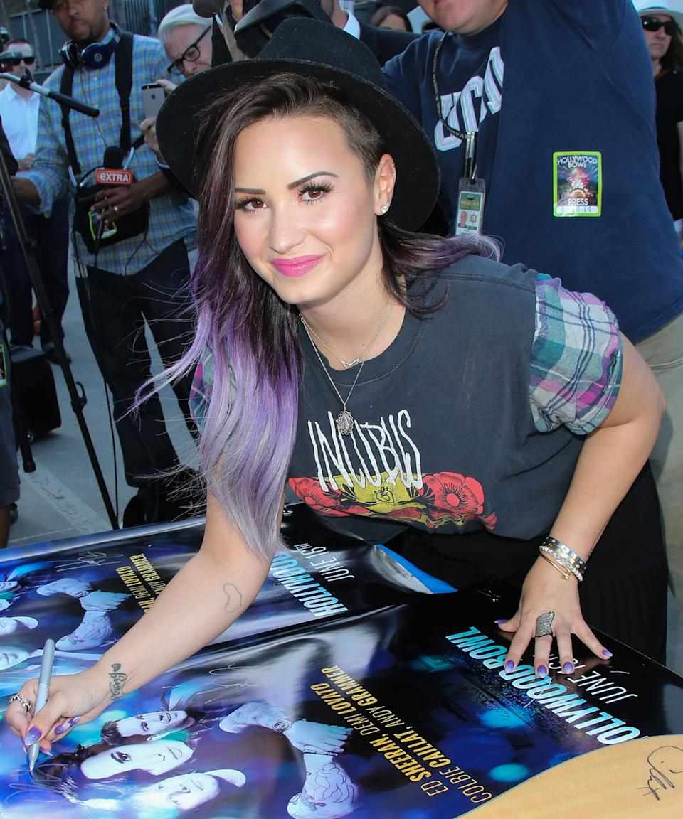 """<h3>Outline Of Africa</h3><br><br>Lovato got a delicate outline of Africa on the inside of her right arm just after spending her 21st birthday in Kenya.<span class=""""copyright"""">Photo: Paul Archuleta/FilmMagic.</span>"""