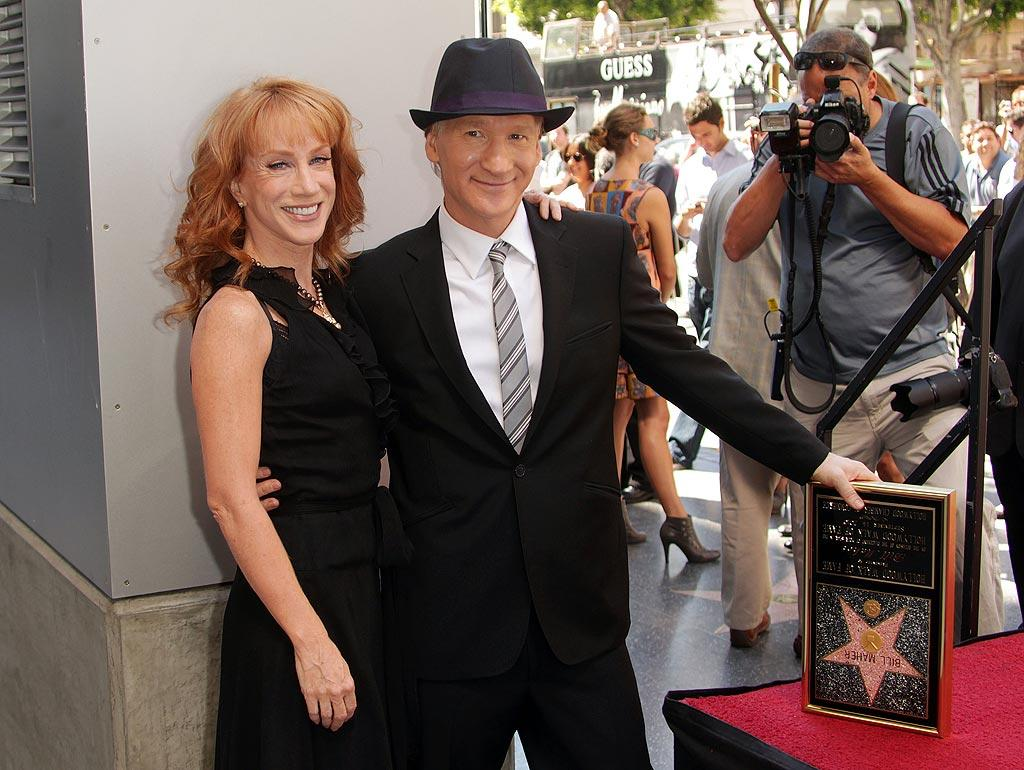 "Funny lady Kathy Griffin and other famous faces were in the crowd to congratulate former ""Politically Incorrect"" host Bill Maher as he accepted a star on the Hollywood Walk of Fame. The controversial comedian, whose current HBO show is called ""Real Time with Bill Maher,"" jokingly thanked ""George Bush, Sarah Palin, and the pope"" in his speech. Frederick M. Brown/<a href=""http://www.gettyimages.com/"" target=""new"">GettyImages.com</a> - September 14, 2010"