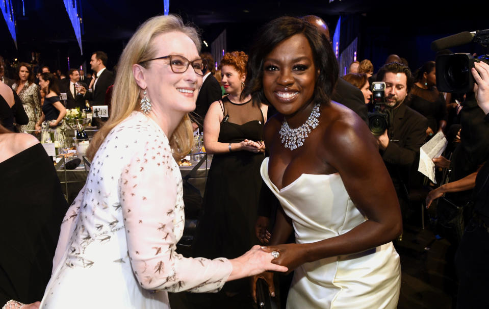 Meryl Streep and Viola Davis at the 2017 Screen Actors Guild Awards. (Photo: Chris Pizzello/Invision/AP)