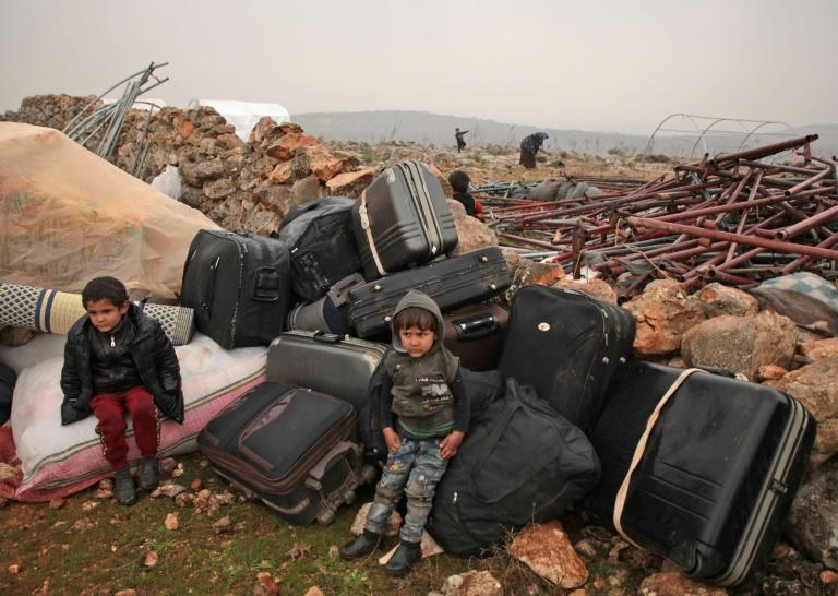 The latest wave of displacement compounds an already-dire humanitarian situation in the rebel-held northwest where more than 358,000 civilians had already been displaced by the intensified bombardment pro-government forces launched in December (AFP Photo/Aaref WATAD)