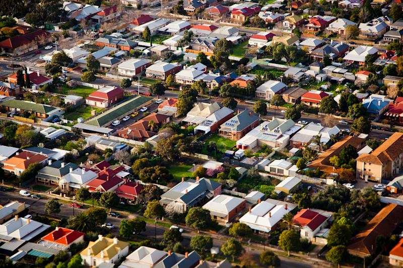 Aerial view of an Australian suburb. Image: Getty