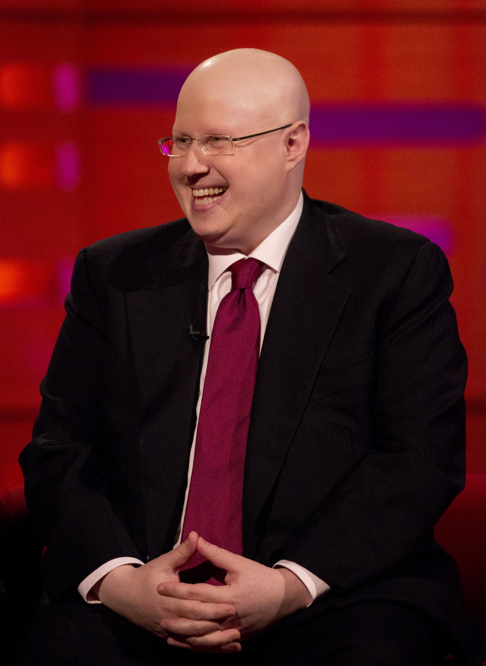 Matt Lucas during filming of the Graham Norton Show at the London Studios, to be aired on BBC One on Friday evening.