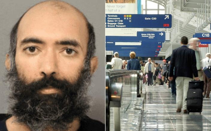 Aditya Singh spent three months hiding in Chicago O'Hare International Airport  - Chicago Police / Getty Images