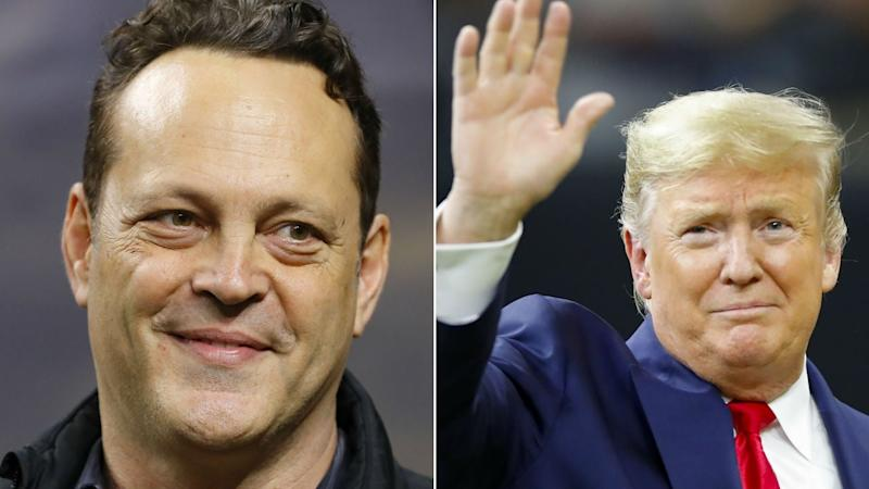 Vince Vaughn Shakes President Donald Trump's Hand at a Football Game -- and Twitter Has Some Feelings About It
