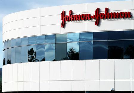 FILE PHOTO: FILE PHOTO: A Johnson & Johnson building is shown in Irvine