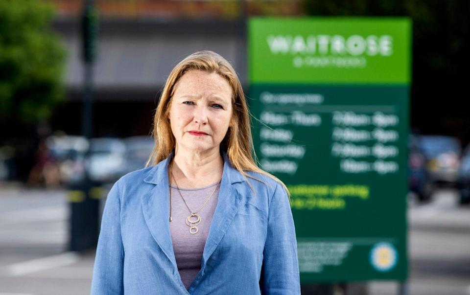 Juliet Johnson told Waitrose staff she did not need to wear a face mask as she suffers from an autoimmune disease which affects her breathing - Will Dax/Solent News & Photo Agency