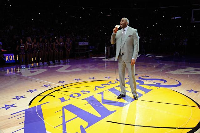 Magic Johnson is coming back to the Lakers. (Getty Images)