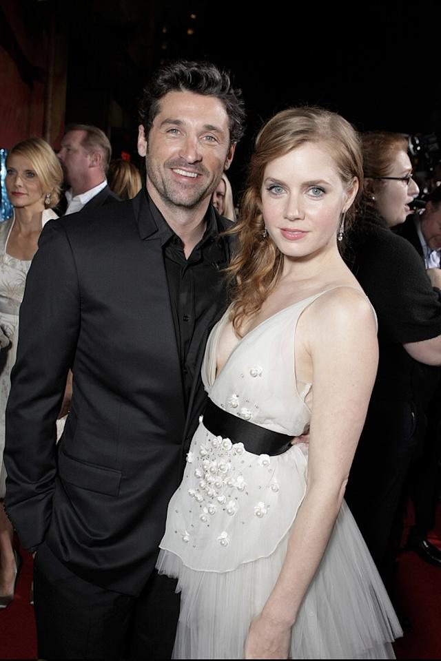 """<a href=""""http://movies.yahoo.com/movie/contributor/1800043748"""">Patrick Dempsey</a> and <a href=""""http://movies.yahoo.com/movie/contributor/1800018895"""">Amy Adams</a> at the Hollywood premiere of <a href=""""http://movies.yahoo.com/movie/1809426456/info"""">Enchanted</a> - 11/17/2007"""