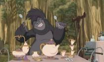 <p>Mrs. Potts, Chips and her porcelain kids managed to find their way from Paris to the Congo as they became some impromptu musical instruments for Terk in Tarzan. </p>