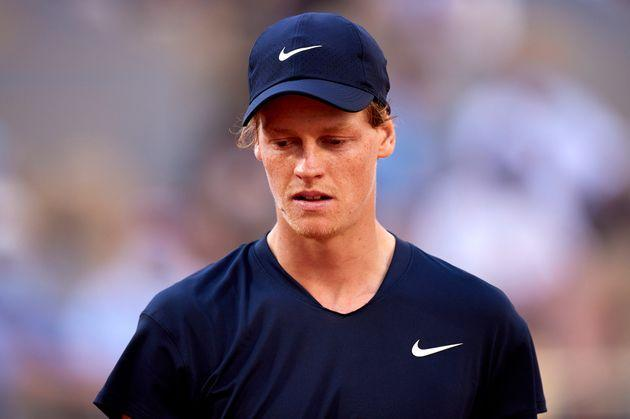 PARIS, FRANCE - JUNE 07: Jannik Sinner of Italy reacts in his Fourth Round match against Rafael Nadal of Spain during day nine of the 2021 French Open at Roland Garros on June 07, 2021 in Paris, France. (Photo by Tnani Badreddine/Quality Sport Images/Getty Images) (Photo: Quality Sport Images via Getty Images)