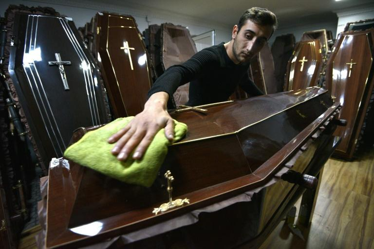 One of the few hubs of activity in Stepanakert is a furniture workshop that has put its usual business on hold to make coffins