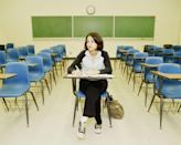 """<p>If you're a grown adult dreaming about being back in school, <a href=""""http://www.dreammoods.com/dreamthemes/school-dream-symbols.htm"""" rel=""""nofollow noopener"""" target=""""_blank"""" data-ylk=""""slk:there's a theory"""" class=""""link rapid-noclick-resp"""">there's a theory</a> that you have some lingering insecurities from your childhood. It's not all negative, though. A dream that you're back in a classroom can also represent a yearning for personal growth. This is especially true if you find yourself back in the college world.</p>"""