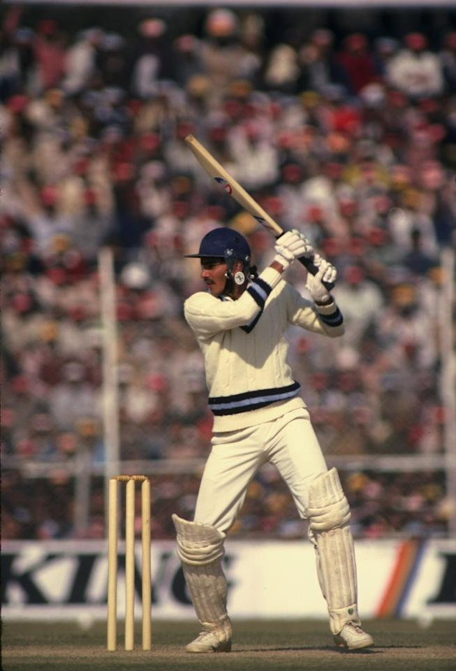 28 Dec 1981:  Ravi Shastri of India in action during the Third Test match against England at Feroz Shah Kotla in Delhi, India. The match ended in a draw. \ Mandatory Credit: Adrian  Murrell/Allsport