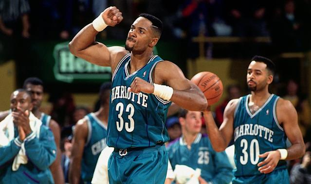 Alonzo Mourning represented hope for the Charlotte Hornets as a rookie. (Lou Capozzola/NBAE via Getty Images)