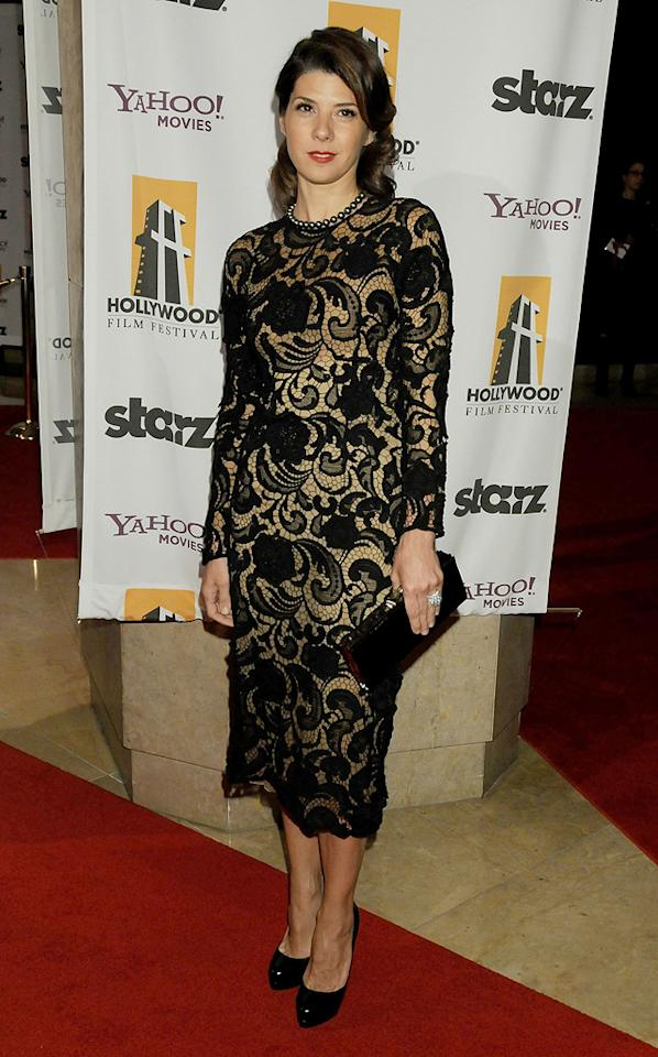 """<a href=""""http://movies.yahoo.com/movie/contributor/1800024659"""">Marisa Tomei</a> at the 12th Annual Hollywood Film Festival Awards Gala in Beverly Hills - 10/27/2008"""