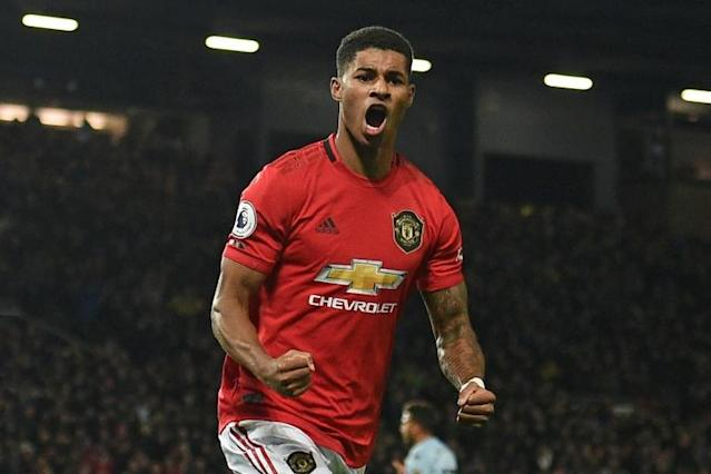 Marcus Rashford has scored 12 goals in 13 games for club and country (AFP Photo/Oli SCARFF )