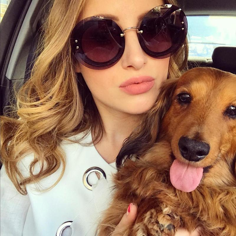 Doggy day care: Rosie took her pet pooch to the hair dressers (Rosie Fortescue)
