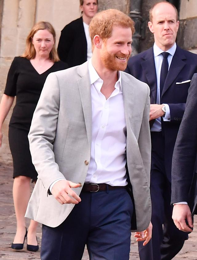 Prince Harry appeared in Windsor on Friday. (Photo: George Pimentel/WireImage)