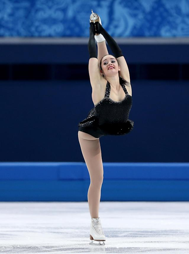 SOCHI, RUSSIA - FEBRUARY 19: Kaetlyn Osmond of Canada competes in the Figure Skating Ladies' Short Program on day 12 of the Sochi 2014 Winter Olympics at Iceberg Skating Palace on February 19, 2014 in Sochi, Russia. (Photo by Matthew Stockman/Getty Images)