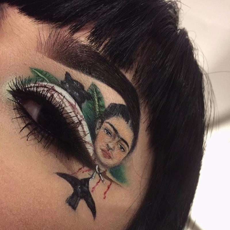 How 1 Makeup Artist Honored Frida Kahlo in the Coolest Way